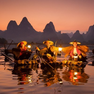 Cormorant Fisherman, Xing Ping, China