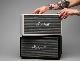 Marshall's speaker has a retro feel