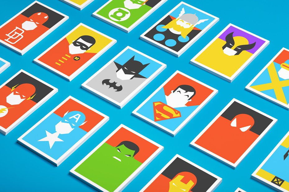 Minimalist Postcards Of Superheroes